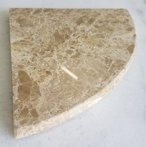 "8"" Marble Shower Corner Shelf (Emperador Brown)"