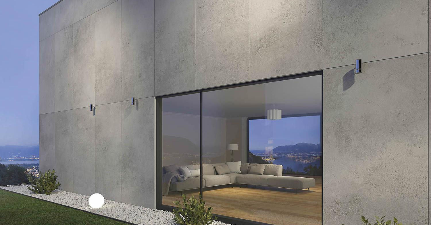 Vista Grey porcelain tile...
