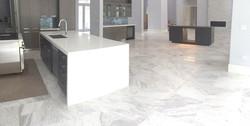 Volakas Carrara marble tile..