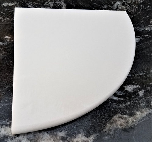 "8"" Marble Shower Corner Shelf (Crystal White)"