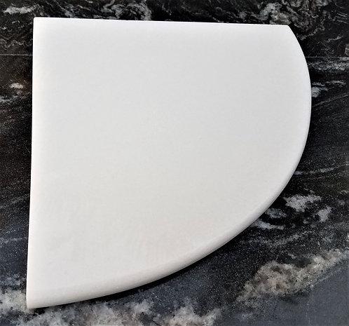 """8"""" Quartz Shower Corner Shelf (Thassos White)"""