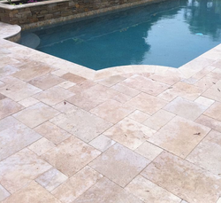 Ivory Country Travertine French pattern Tile