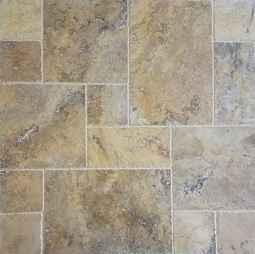 Scabos | Travertine Tile French Pattern