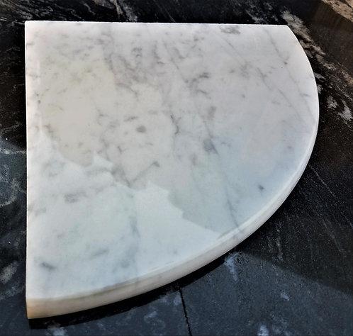 "8"" Marble Shower Corner Shelf (Carrara Milano)"