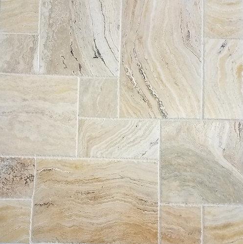 Davinci | Travertine Tile Versailles Pattern