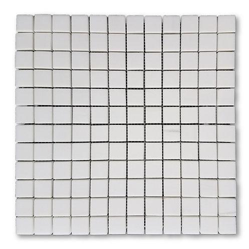 Bianco Dolomite 1x1 | Honed Marble Mosaic Tile