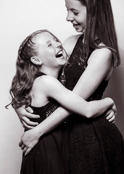 Schwestern Familien Fotoshooting im Fotostudio
