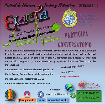 invitación Conversatorio Matpuc  Exacta