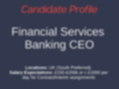 Financial Careers Ltd Candidate Banking