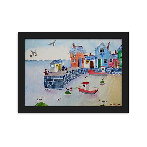 Seaside Framed matte paper poster