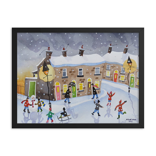 Winter Fun Framed poster