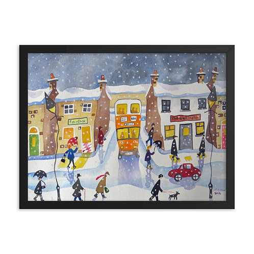 Winters Day Framed poster