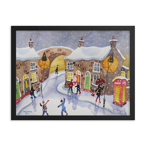 Its Snowing! Framed poster