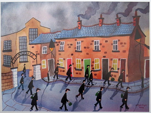 """""""The Old Iron Works"""" A4 Print"""
