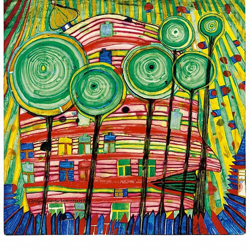 Hundertwasser and his Lollipop trees
