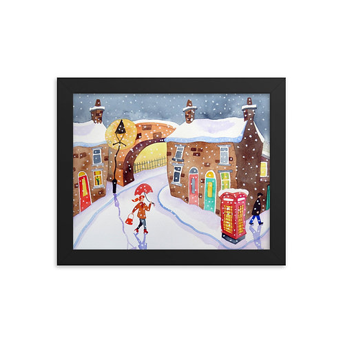 A Winters Night Framed poster