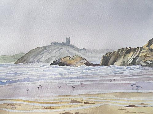 Criccieth Castle from Black Rock Sands
