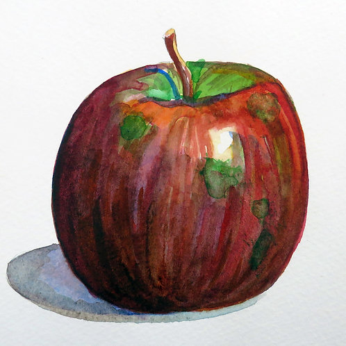 Expressive Apple Painting Lesson