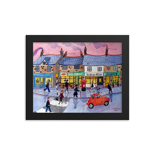 The Posh End of the Village Framed photo paper poster