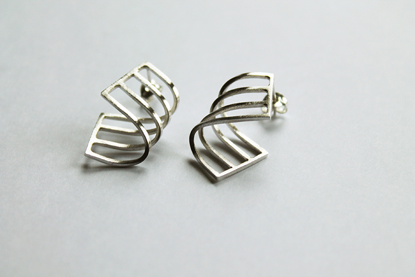 silver earrings design pretty gift