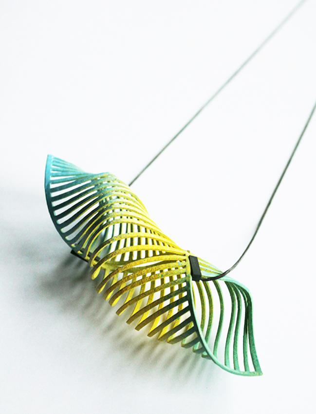 pendant necklace colourful unique