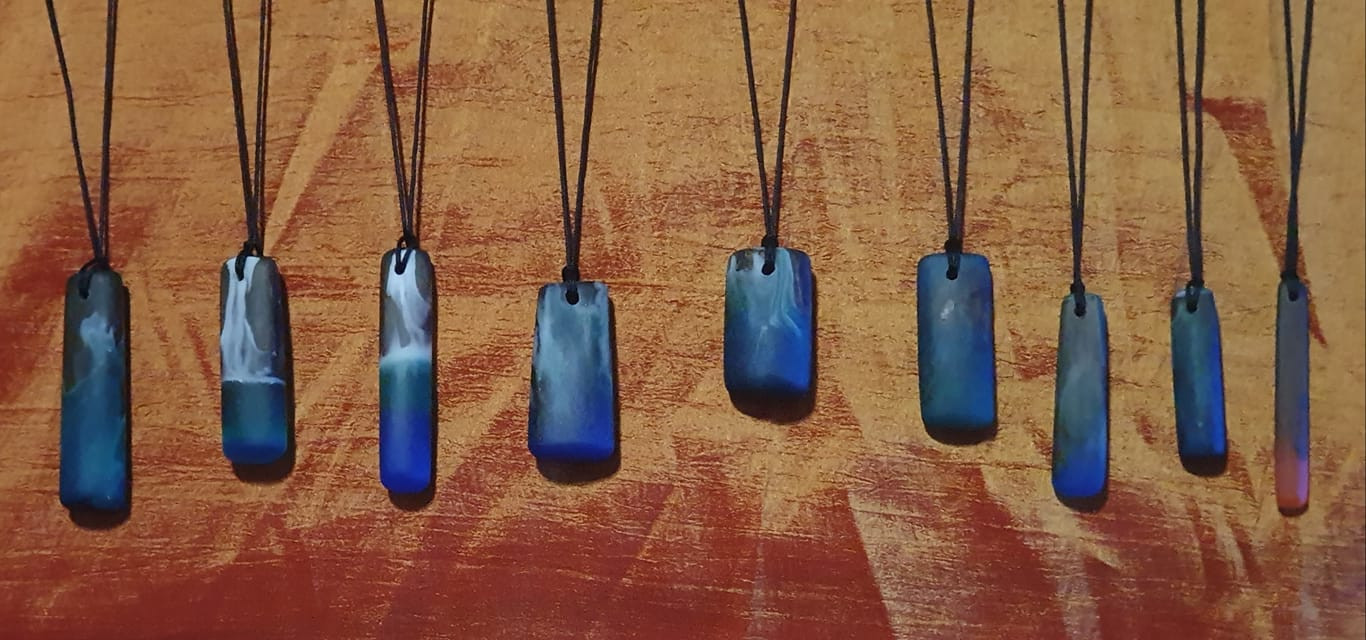 A Selection of Resin and Driftwood Pendants