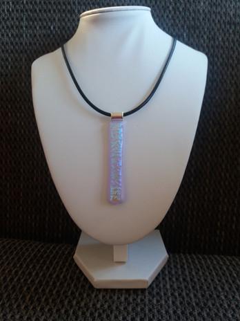 Irridescent lilac pendant