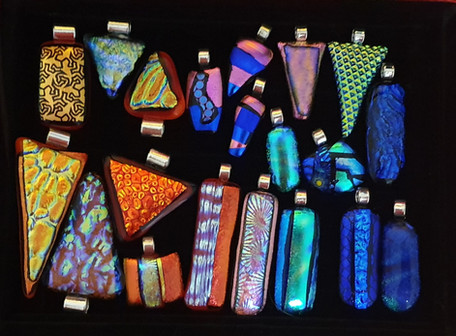 Selection of Dichroic Glass Pendants