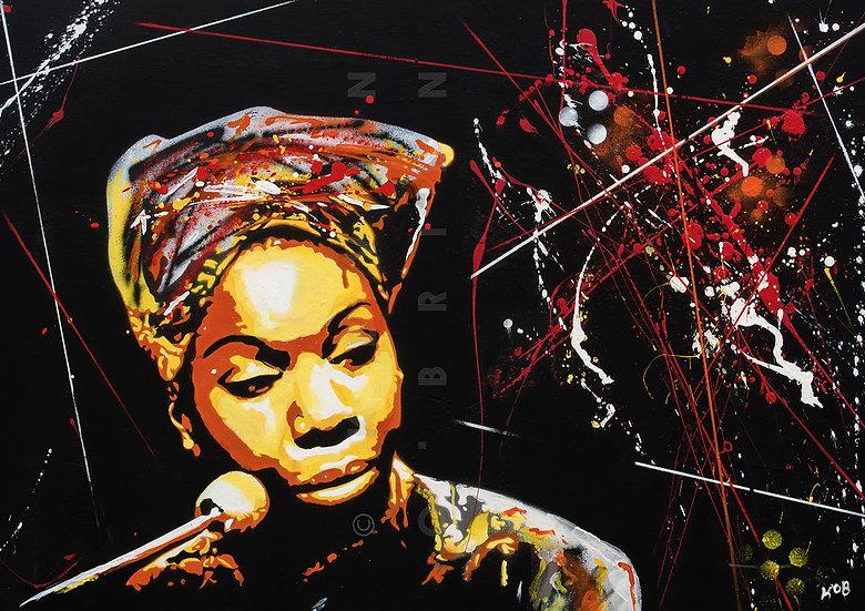 Portrait of Nina Simone - (Print)