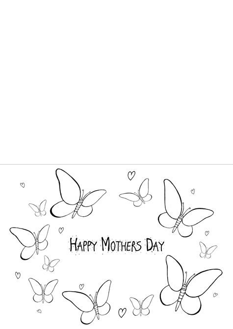 Mother's Day Card - Butterflies