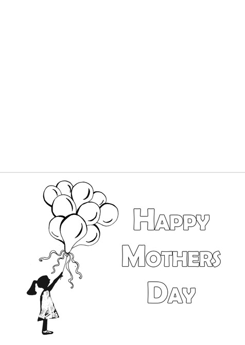 Mother's Day Card - Balloons (Girl)