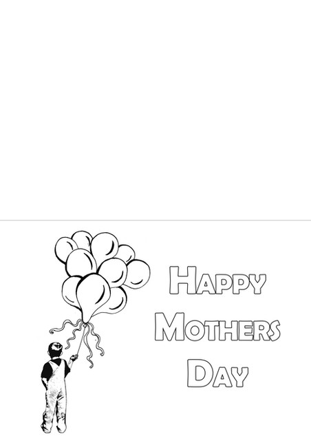Mother's Day Card - Balloons (Boy)