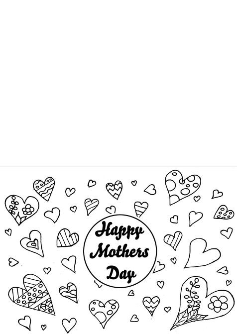 Mother's Day Card - Hearts