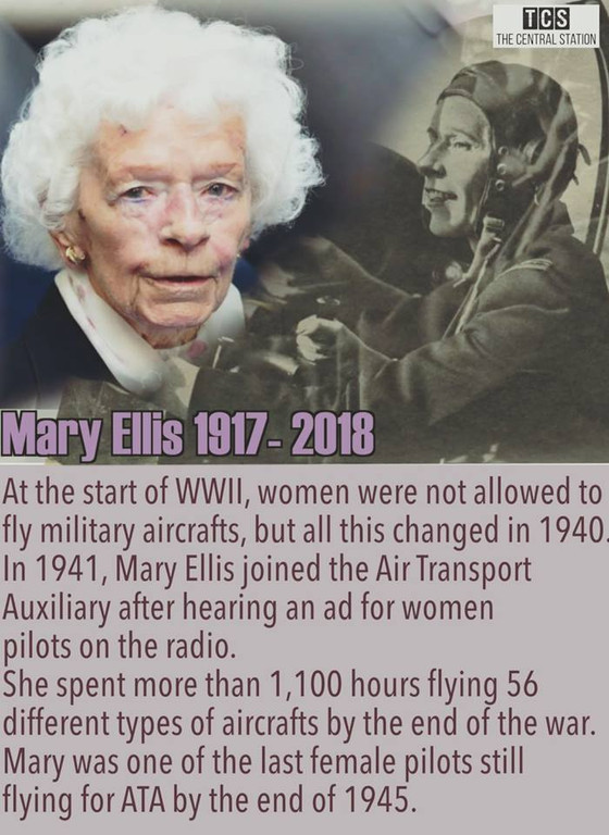 Mary Ellis, a truly remarkable woman.