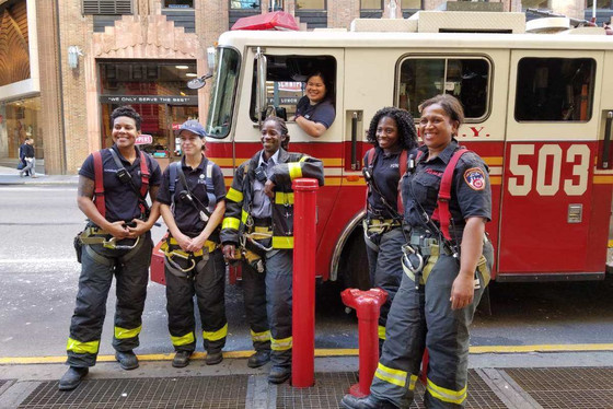 The Women Firefighters of NY City...