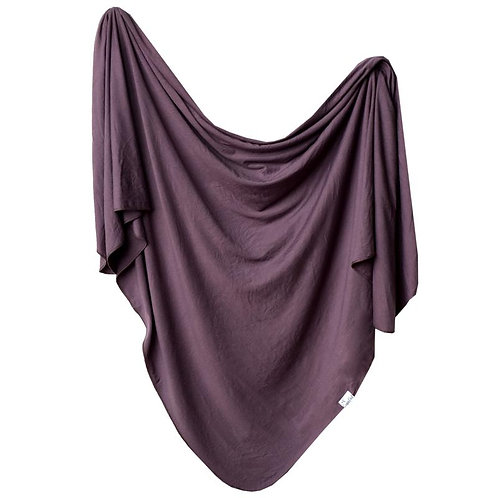 Copper Pearl Jersey swaddle - Plum