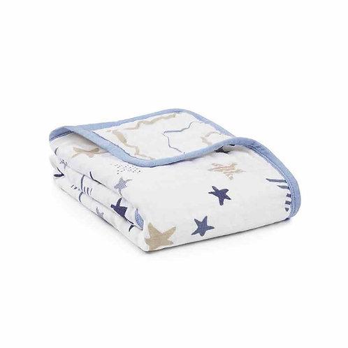 Buggy blanket katoenen muslin - Rockstar 0.70 x 0.70