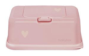 Funkybox billendoekjes doosje - Pale pink hart