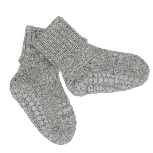 GOBABYGO Alpaca sokjes anti slip pads - Light grey