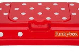 Funkybox To Go billendoekjes doosje - Red polkadot