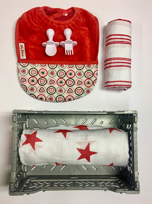 Little bits by Nybble - gevuld cadeau kratje - Red stars and stripes