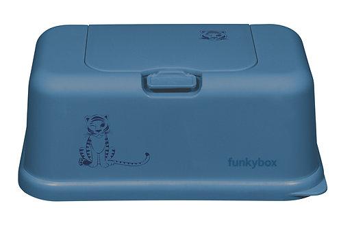 Funkybox billendoekjes doosje - Blue tiger