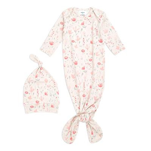 aden + anais Comfort knit knotted gown - Perennial *sample