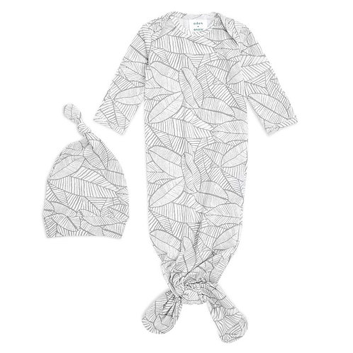 aden + anais Comfort knit knotted gown - Zebra plant*sample