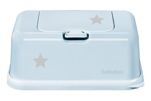 Funkybox billendoekjes doosje - Pale blue star