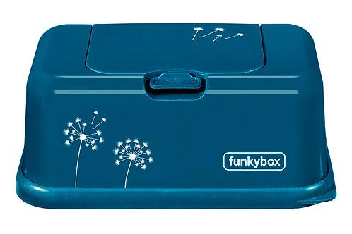 Funkybox billendoekjes doosje - Petrol flower