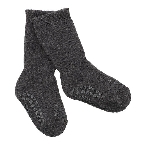 GOBABYGO sokjes anti slip pads - Dark grey melange*sample