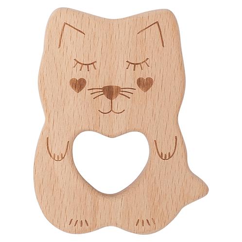 Kippins beukenhouten bijtspeeltje - Kitty Kitten