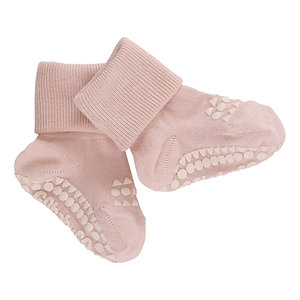 GOBABYGO bamboe sokjes anti slip pads - Dusty rose *sample