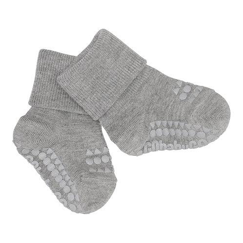 GOBABYGO bamboe sokjes anti slip pads - Grey melange *sample
